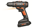 WORX 20V Drill-Driver features 2-speed gearbox and 15+1 clutch positions to handle a wide range of drilling and driving applications.