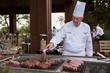 Chef Jose preparing steaks at Hofmann Ranch