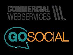Commercial Web Services + GoSocial Logo