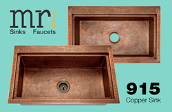 915 Kitchen Copper Sink