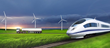 Green future of freight, solar electric rail image