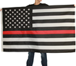Fine Line Flag unfurls a New Thin Red Line Flag designed to Honor Firefighters