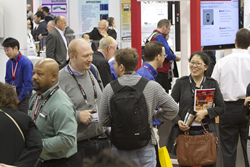 Product developers and suppliers from around the world meet  customers and new contacts at SPIE Photonics West; above, on the exhibition floor in 2015.