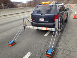 ground penetrating radar vehicle, deck condition survey