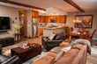 Colorado skiing and snowboarding guests have room to spread out with the full kitchens, livings rooms and dining areas in Antlers at Vail Platinum-ranked guest suites.
