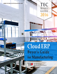 The TEC Cloud ERP Buyer's Guide for Manufacturing addresses key questions businesses have on deploying cloud computing solutions.
