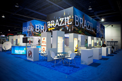 brazil pavilion, nab show, trade show exhibit