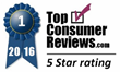 Water Filter Retailer Receives Best-in-Class 5-Star Rating from TopConsumerReviews.com