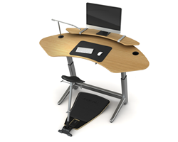 Ergonomic standing desk and leaning seat