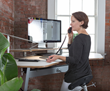 Standing Desk and Leaning Seat for Better Work Posture