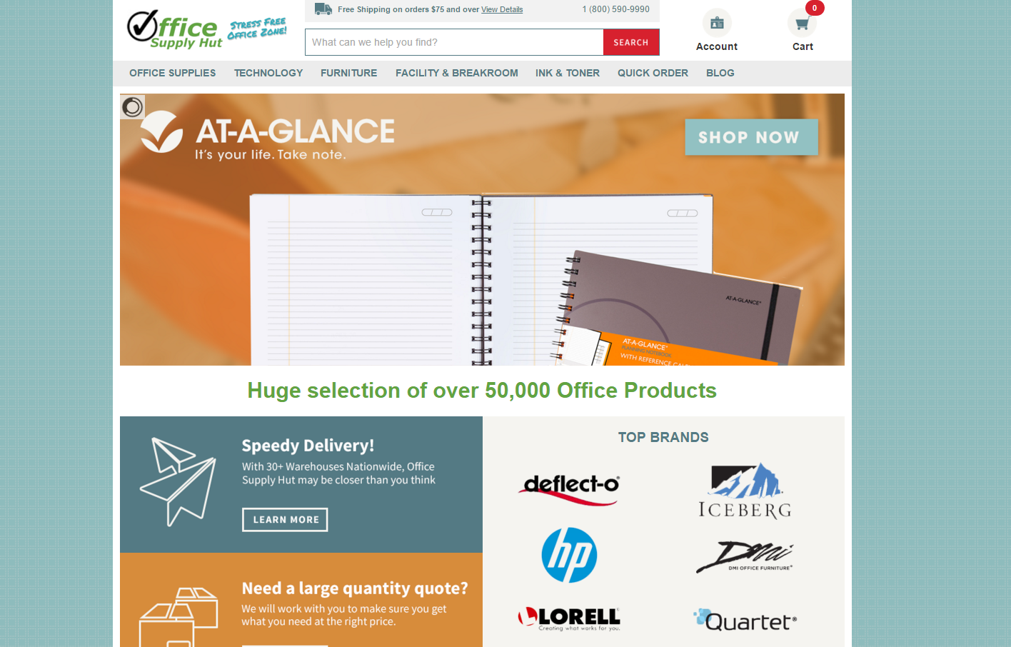 Office Supply Hut Redesigns Their Website With A List Of New And Impressive Enhancements