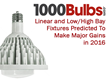 Linear and Low/High Bay Fixtures Predicted To Make Major Gains in 2016