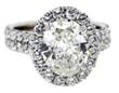 3-carat oval diamond engagement ring