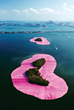 "Ruth Shack championed Christo and Jeanne-Claude's ""Surrounded Islands"" Biscayne Bay, Miami, FL, 1980-83 (photo by Wolfgang Volz; provided courtesy of the Lowe Art Museum) (Copyright Christo, 1984)"