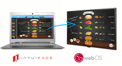 IntuiFace now provides native support for webOS Signage from LG