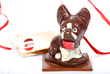 3-D Chocolate French Bulldog