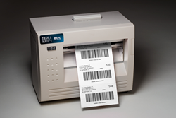The TrayMate 4 is directly integrated into BCC Mail Manager and produces over 250 tags per minute.