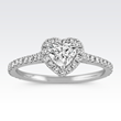Shane Co. Heart-Shaped Halo Diamond Engagement Ring