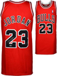 Michael Jordan Hand Signed Red Chicago Bulls Jersey