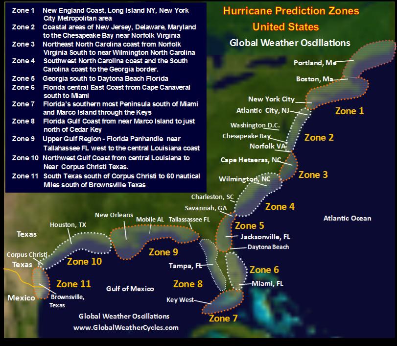 Hurricane Predictions Harsh Winter Drought - 2016 predictions us map