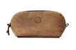 The Curo Dopp Kit—grizzly brown leather
