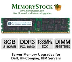8GB DDR3 1333MHz ECC Registered Memory