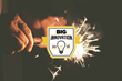 BIG Innovation Award logo on background of firewroks