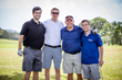 Kirk Chewning (second from right), co-CEO of Cane Bay Partners VI and vice chair of the Junior Achievement VI board, poses with teammates during the Junior Achievement Golf Classic Friday at Carambola Golf Club.