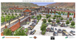 rendering of new Glenwood Hot Springs parking lot when Grand Avenue Bridge is completed.