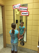 Schools decked out their halls with with fun kindness decor.