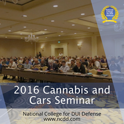 2016 Cannabis and Cars Seminar