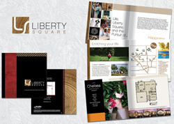 McCaffrey Homes of Fresno Award-Winning Liberty Square Logo and Community Brochure