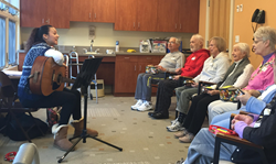 music therapy at Adult Day Club