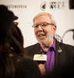 Leonard Maltin interviewed on the red carpet