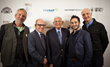 Timothy Bottoms, Rabbi Steve Leder, Eli Broad, Aaron Wolf & Michael Gross at the Skirball Cultural Center