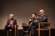 Leonard Maltin, Aaron Wolf & Rabbi Steve Leder at the Skirball Cultural Center