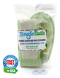 Natural Loofah sponge Glove and Back Scrubber set from TingleBath