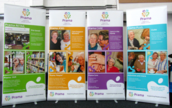 Prama received a donation of five new banners from Quadrant2Design