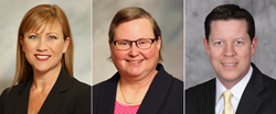 KVC Health Systems' executive team: Erin Stucky, Chief Operations Officer; Marilyn Jacobson, Chief Financial Officer; and Chad Anderson, Chief Clinical Officer.