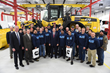 Utah Gov. Gary Herbert poses with industry leaders and Salt Lake Community College students at a press conference to announce the new Utah Diesel Technician Pathways program.