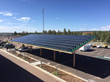 Solar modules were installed on two custom-engineered parking shade structures.
