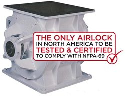 Prater Rotary Airlock Valve Certified NFPA-69 Compliant