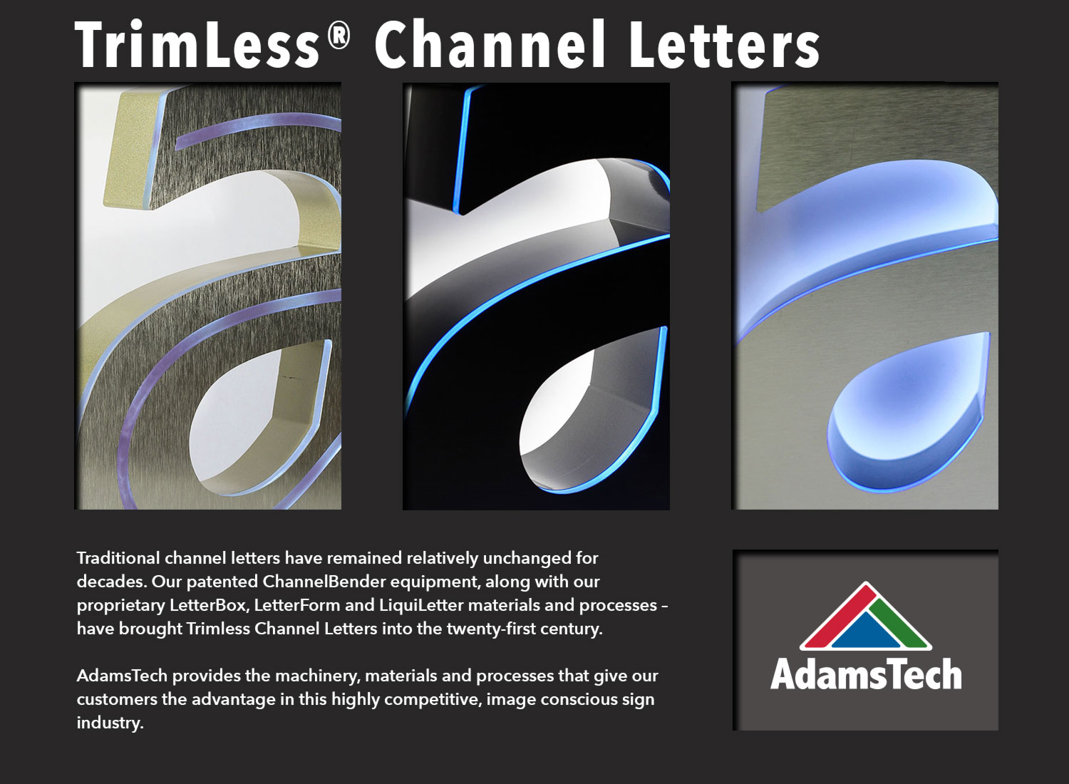 trimless channel letters pictures to pin on pinterest With trimless channel letters