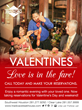 Valentine's Weekend Reservations Available for Feb. 12-14
