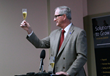 Aurora Mayor Steve Hogan presents official toast