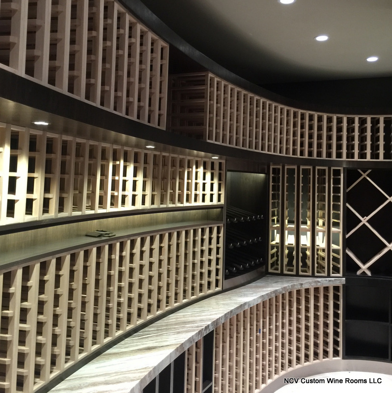 The creative art influenced custom wine racks of doc for Wine painting san antonio
