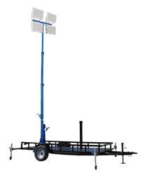 Fold Over Telescoping LED Light Tower on 14' Trailer