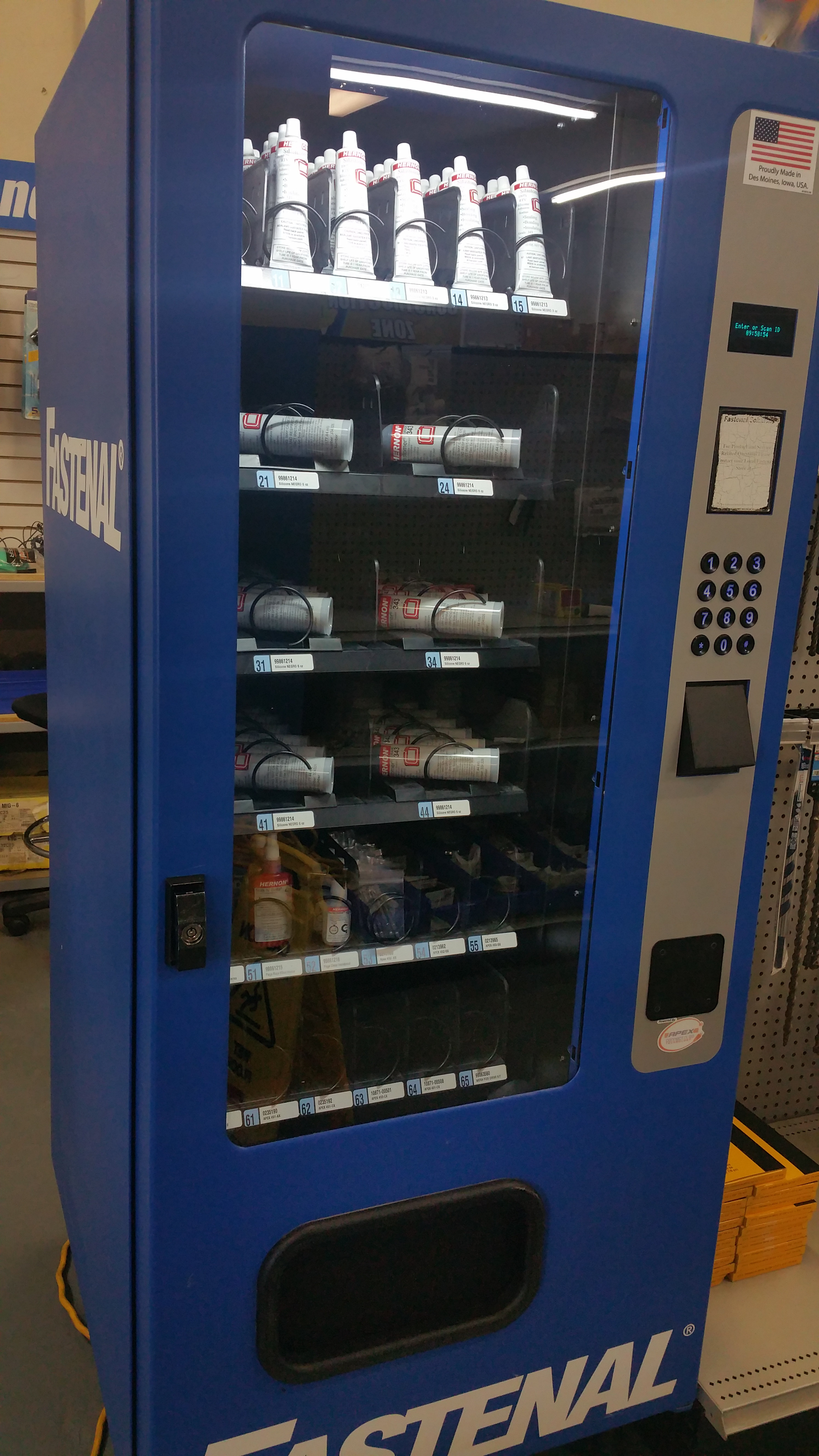 vending machine inventory tracking