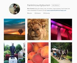 Instagram.com/franklincountytourism is Franklin County Visitors Bureau's newest social media.