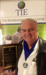 CEO of The International Educator retiring with honors.